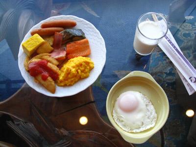 洞爺湖的早餐~好多蛋類製品