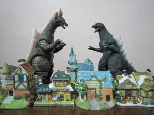 怪獸場景-海龍vs哥吉拉