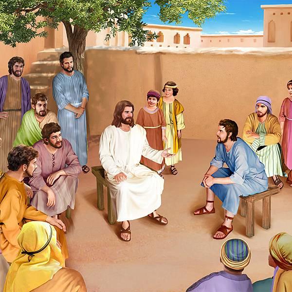 全能神教會手繪圖——主耶稣教导彼得饶恕人七十个七次.jpg
