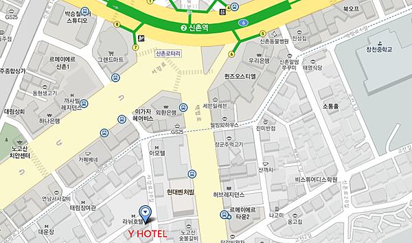 Y HOTEL 地圖