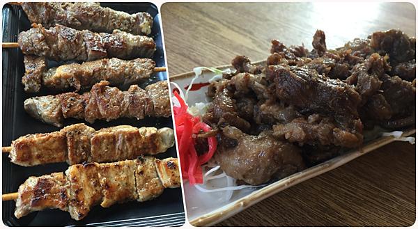 烤肉+煮牛筋