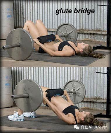 槓鈴glute bridge