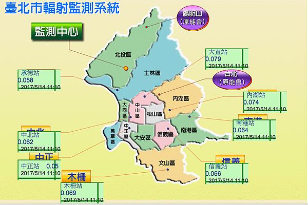台北輻射值