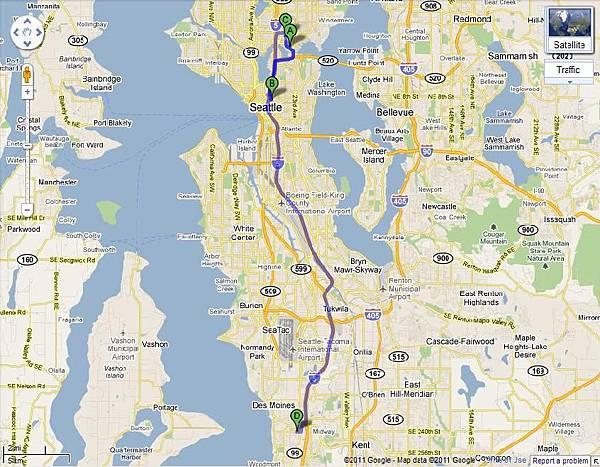西雅圖語言學校地圖