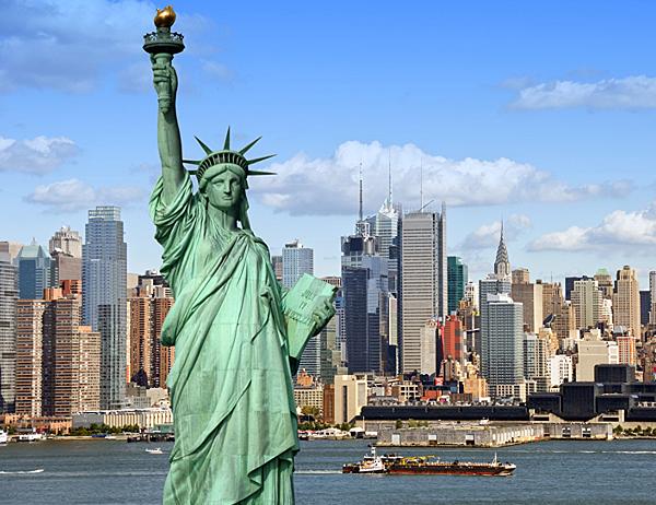 英國遊學VS美國遊學 liberty statue gogoenglish