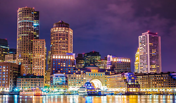 波士頓夜景- 美國10大熱門遊學城市 gogoenglish