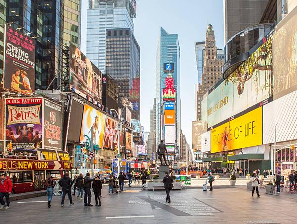 紐約時代廣場 - 美國10大熱門遊學城市 gogoenglish