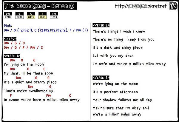 The Moon Song Ukulele Chords Gogojaz Pixnet