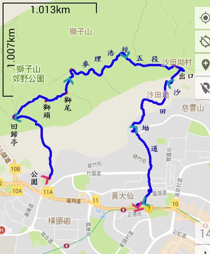 獅子山地圖