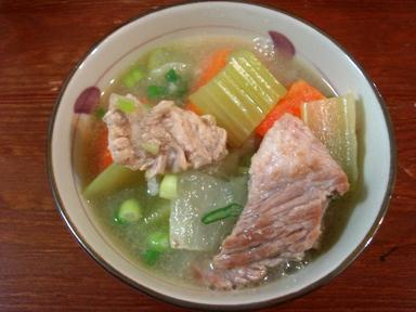 豬五花蔬菜味噌湯