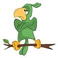 色鹦鹉漫-人物的例证-77600320.jpg