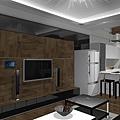 尊品-宋宅-3D模擬實境[新竹室內設計/竹北室內設計]-小坪數內斂沉穩風格