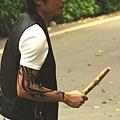 甘蔗俠紋身