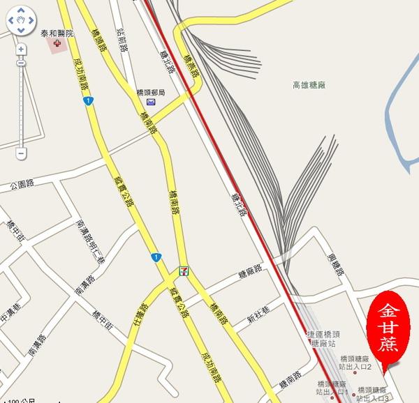 金甘蔗 google 地圖
