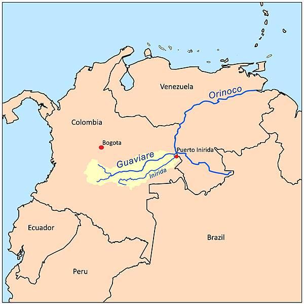 Guaviarerivermap