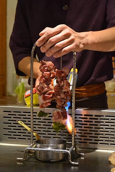 火烤牛肉串特寫