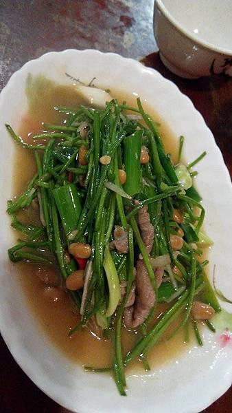 水蓮炒肉絲