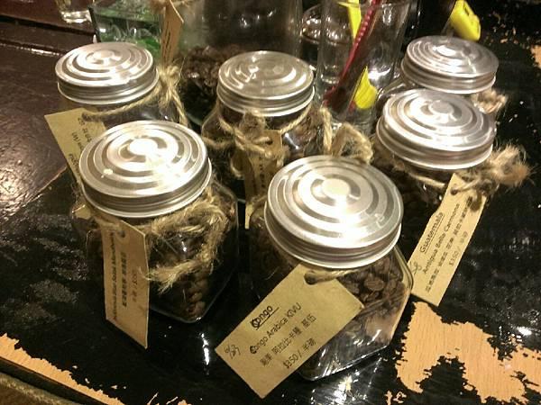 各式的咖啡豆