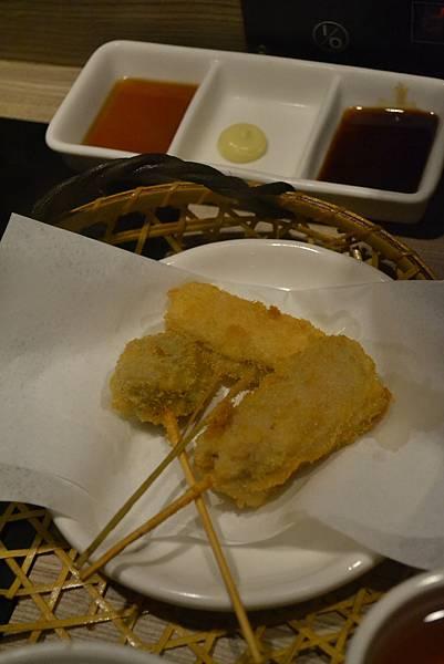 三味串揚:里肌、南瓜、腰脊肉