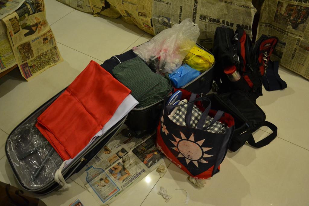 我所準備的行李哈哈