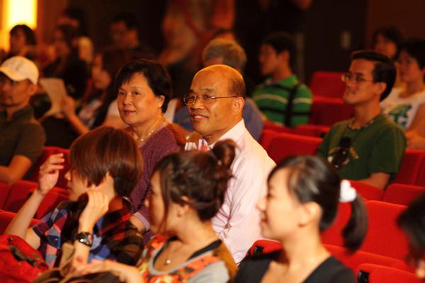 蘇貞昌前院長和夫人也到場觀影