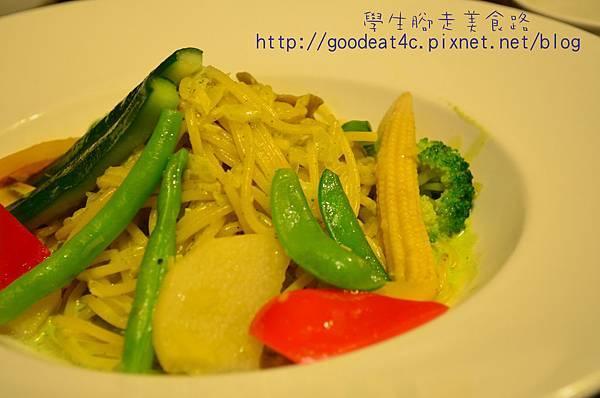 青醬起司蔬菜麵