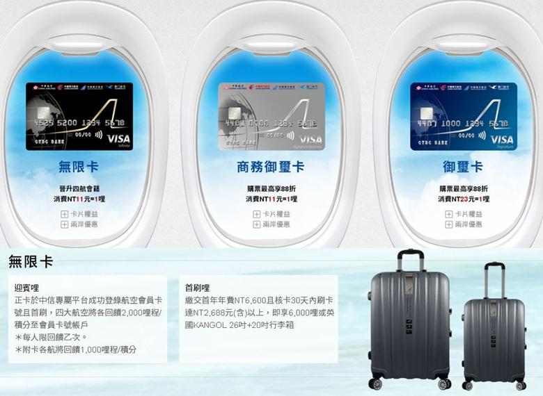 中國信託》大中華攜手飛聯名卡-無限