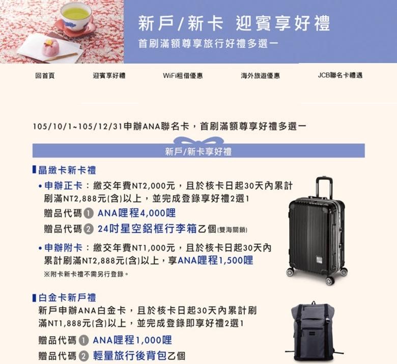 中國信託》ANA聯名卡