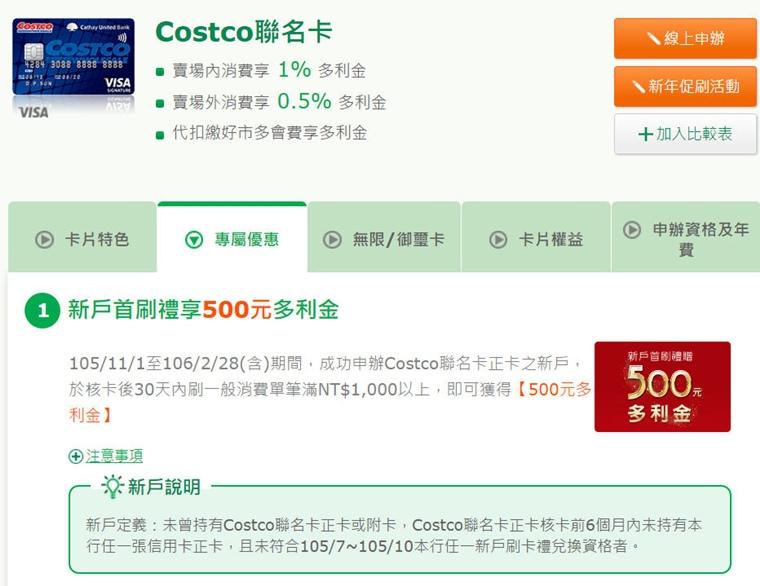 國泰世華》COSTCO聯名卡