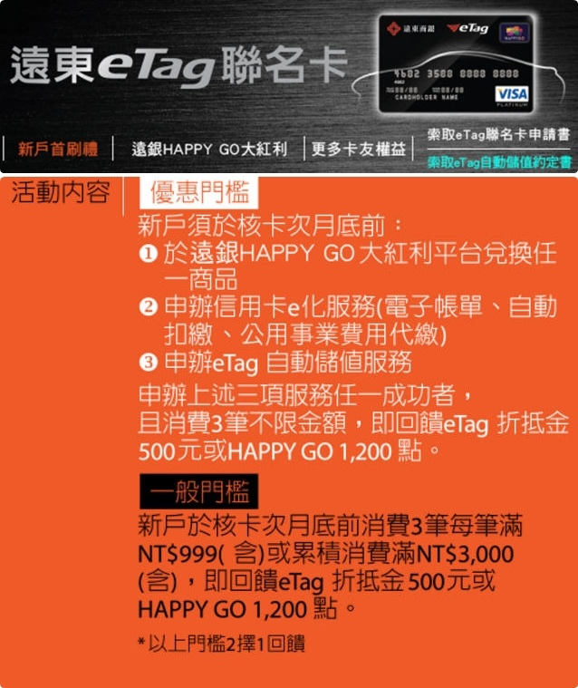 遠東商銀》eTag聯名卡