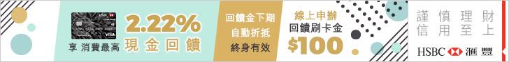 匯豐1.22% 橫式廣告