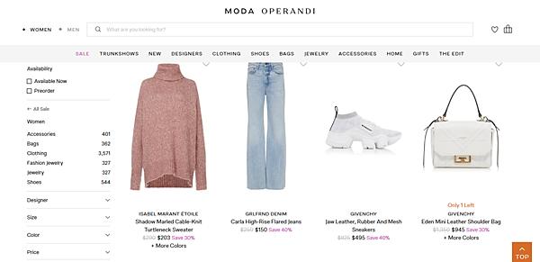 Moda Operandi 優惠促銷折扣