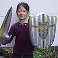 盾牌加寶劍-盾牌43cm,劍57cm