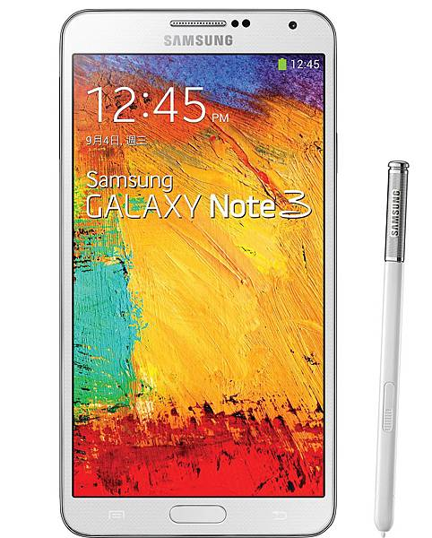 Samsung GALAXY Note 3同時推出典藏黑、經典白雙色,此款為經典白
