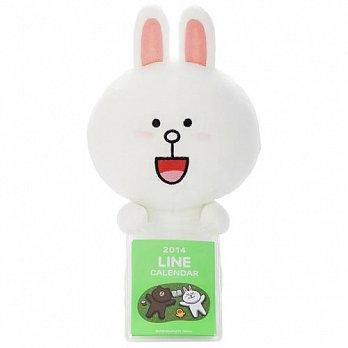 LINE絨毛娃娃 兔兔 (附2014月曆卡)