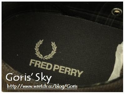 FRED PERRY 經典刺繡休閒布鞋