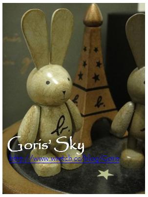 agnes b. CAFE  Xmas木質兔子音樂盒