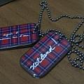 09 旅遊概念蘇格蘭風軍牌項鍊(紅、綠兩色)