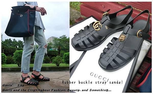 1cdd724f04c 滿5000折500!GUCCI金屬不對稱防水涼鞋(Rubber buckle strap sandal)實穿 ...
