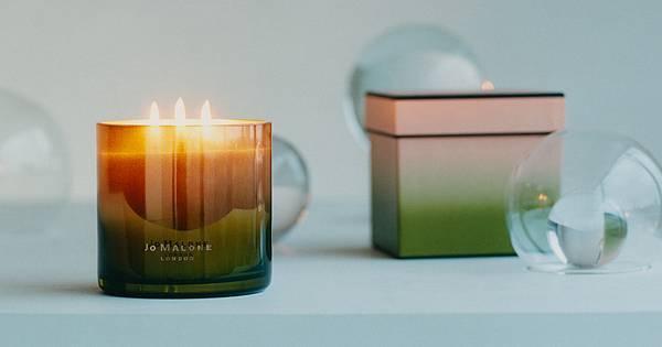 英國梨與小蒼蘭+青檸羅勒與柑橘 雙層工藝香氛蠟燭(橫)