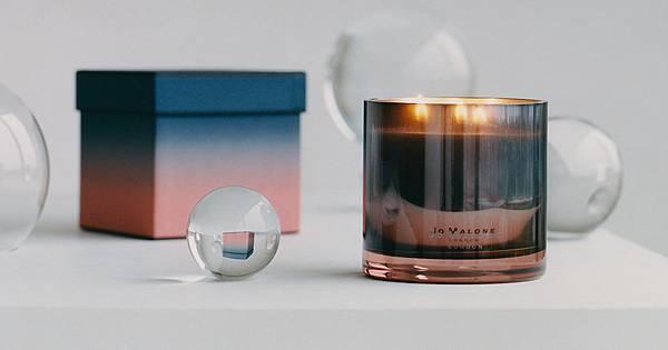 黑石榴+牡丹與胭紅麂絨 雙層工藝香氛蠟燭(橫)