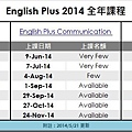 2014 English plus courses