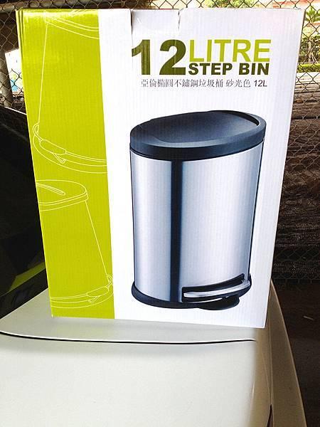 [售] 全新-亞倫橢圓不鏽鋼垃圾桶