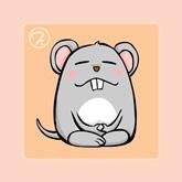 Q版12生肖禪定圖-老鼠