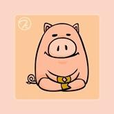 Q版12生肖禪定圖-豬