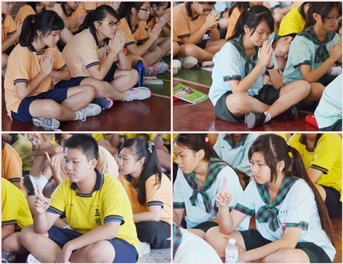 學生進行一系列的專注力訓練