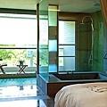 雙人觀音石溫泉浴缸