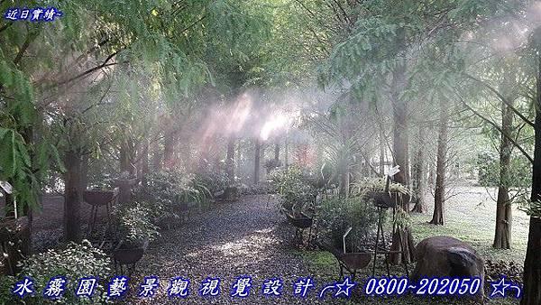 人造霧森林步道
