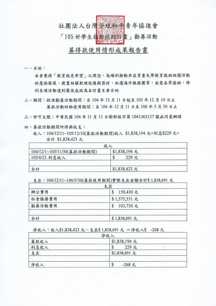 GPYA-105好學生弱勢扶助計畫-結案-募得款使用情形.pdf.jpeg