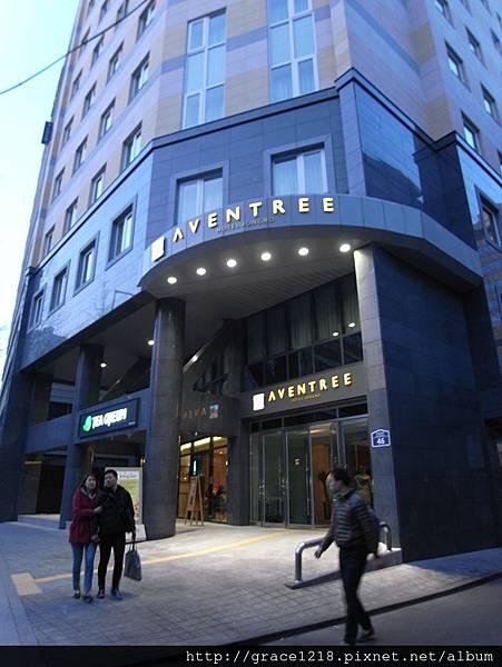 本次住宿:Aventree Hotel  鍾閣站;機場巴士6002直達,附近是仁寺洞